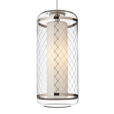 Ecran 1-Light Mini Pendant Base Finish: Antique Bronze, Shade Color: Platinum, Bulb Type: 90 CRI 3000K LED