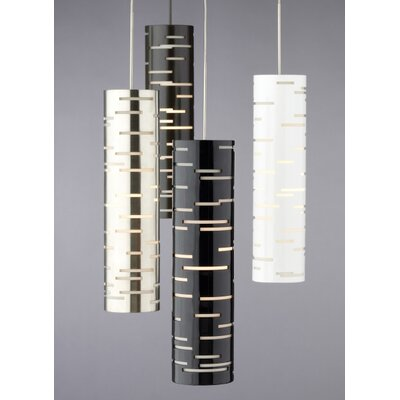 Revel 1-Light Mini Pendant Shade Color: Gloss Black/Satin Nickel, Bulb Type: 90 CRI 3000K LED