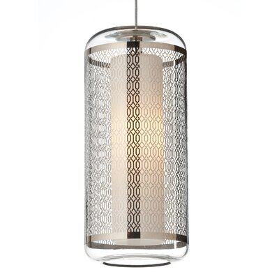 Ecran 1-Light Mini Pendant Base Finish: Satin Nickel, Shade Color: Gold, Bulb Type: 1 x 8W LED