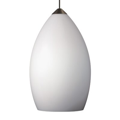 Firefrost 1-Light Mini Pendant Base Finish: Satin Nickel, Shade Color: White, Bulb Type: 90 CRI 3000K LED