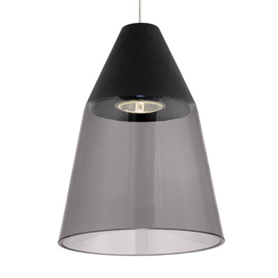 Masque Mini Pendant Shade Color: Smoke/Black