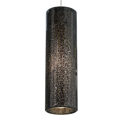 Peyton 1-Light LED Mini Pendant Shade Color: Brown, Base Finish: Chrome