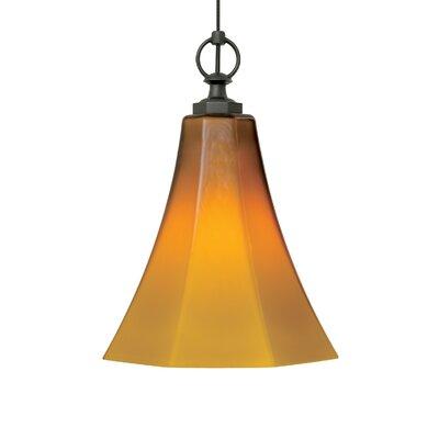 Delaware 1-Light Mini Pendant Base Finish: Antique Bronze