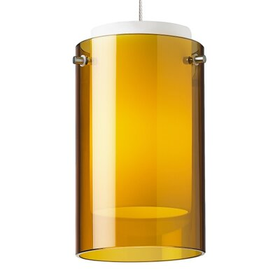 Pinero 1-Light Mini Pendant Shade Color: Amber