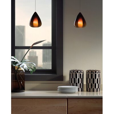 Soleil 1-Light Mini Pendant Finish: Antique Bronze, Shade Color: Brown