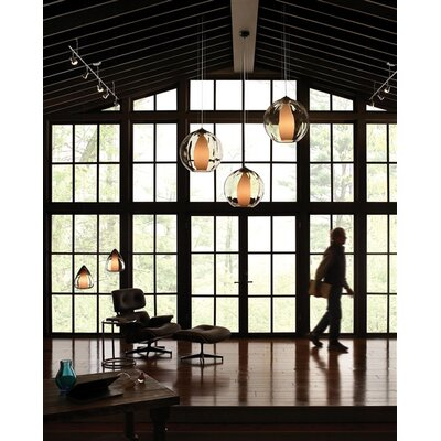 Hinsdale 1-Light Globe Pendant Finish: Black