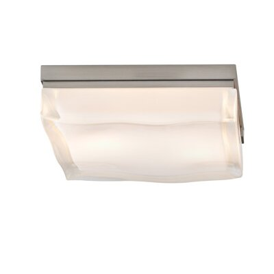 Fluid 1-Light Flush Mount Finish: Satin Nickel