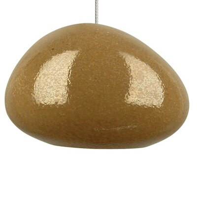 River Rock 1-Light Mini Pendant Shade Color: Brown