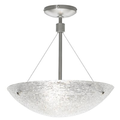 Trace 4-Light Suspension Finish: Satin Nickel, Size: 16 H x 15.5 W x 15 D