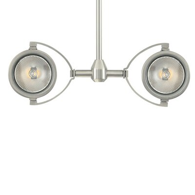 Elton 2-Light Head Finish: Satin Nickel, Size: 12 H x 4 W x 8 D