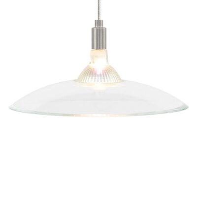 Diz 1-Light Inverted Pendant Finish: Satin Nickel, Shade Color: Brown