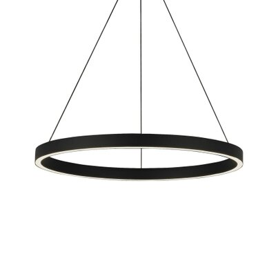 Fiama 3-Light Pendant Finish: Black, Size: 1.5 H x 24 W x 24 D