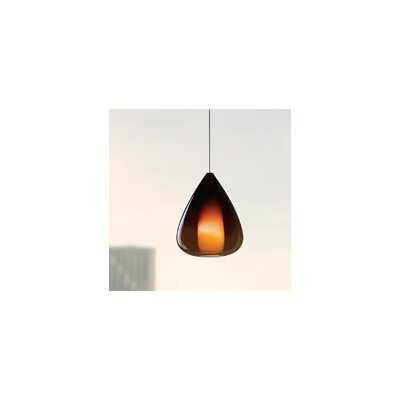 Soleil 1-Light Mini Pendant Shade Color: Green, Finish: Chrome