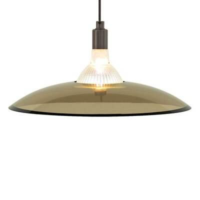 Diz 1-Light Bowl Pendant Finish: Satin Nickel, Shade Color: Brown