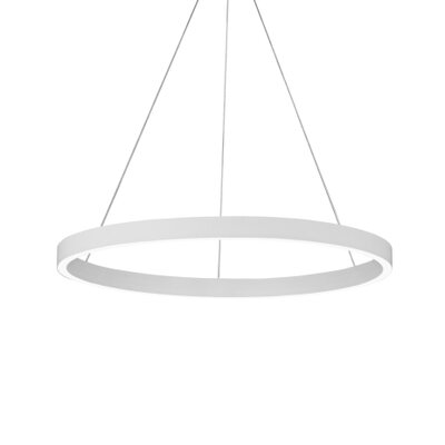 Fiama 3-Light Pendant Finish: White, Size: 1.5 H x 30 W x 30 D