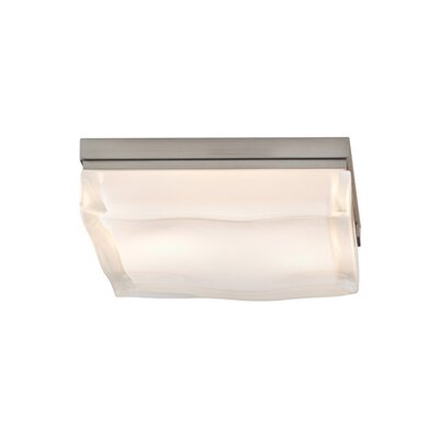 Fluid Flush Mount Finish: Satin Nickel, Size: 2.5 H x 9 W x 9 D