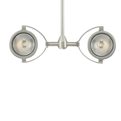 Elton 2-Light Head Finish: Satin Nickel, Size: 18 H x 4 W x 8 D