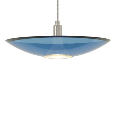 Diz 1-Light Bowl Pendant Finish: Chrome, Shade Color: Blue