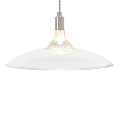 Diz 1-Light Bowl Pendant Finish: Chrome, Shade Color: White