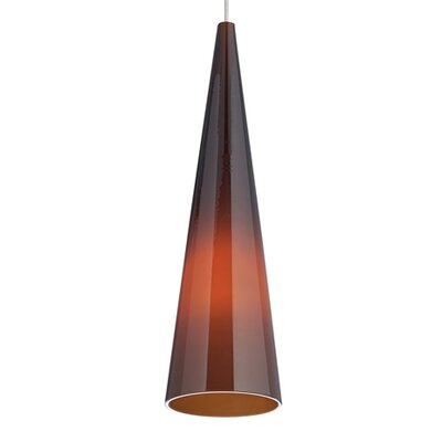 Pinnacle 1-Light Mini Pendant Finish: Chrome
