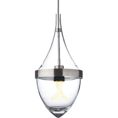 Parfum Grande 1-Light Mini Pendant Bulb Type: Incandescent, Shade Color: Clear / Clear, Finish: Antique Bronze