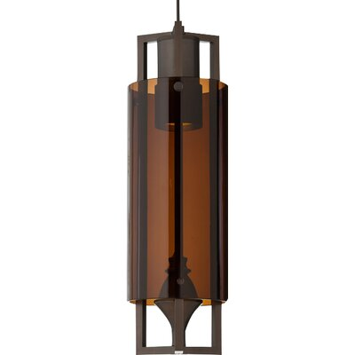 Projekt Monopoint Pendant Finish: Antique Bronze, Shade Color: Brown