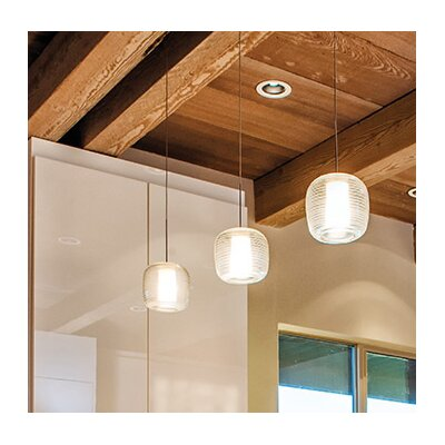 Otto 1-Light Globe Pendant Finish: Satin Nickel, Shade Color: Blue
