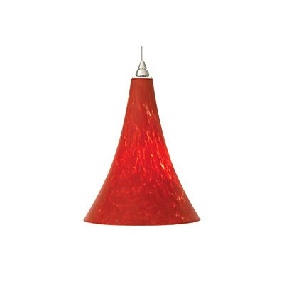 Melrose 1-Light Mini Pendant Finish: Chrome, Color: Red, Bulb Type: 1 x 50W Halogen