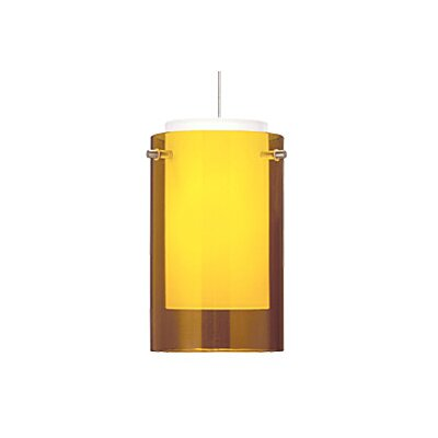 Echo Monopoint 1-Light Mini Pendant Finish: Chrome, Shade Color: Amber, Bulb Type: Halogen