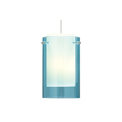 Echo 1-Light Mini Pendant Finish: Chrome, Shade Color: Blue / Aquamarine, Bulb Type: 1 x 50W Halogen
