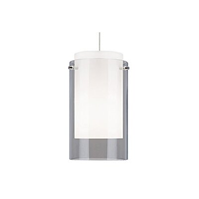 Echo 1-Light Mini Pendant Finish: Satin Nickel, Shade Color: Gray / Smoke, Bulb Type: 1 x 50W Halogen