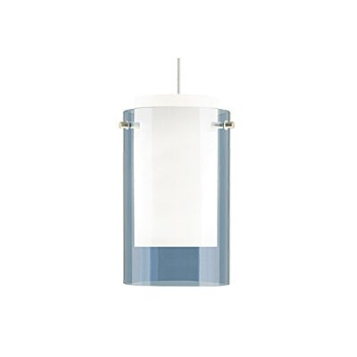 Echo Monopoint 1-Light Mini Pendant Finish: Chrome, Shade Color: Steel Blue, Bulb Type: Halogen
