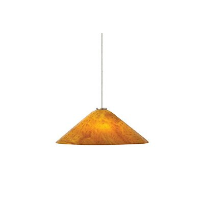 Larkspur 2-Light Inverted Pendant Finish: Satin Nickel, Color: Amber / Beach Amber