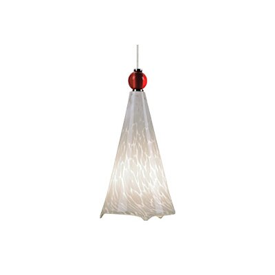 Ovation 1-Light Mini Two-Circuit Monorail Track Pendant Finish: Satin Nickel, Shade Color: White / White Frit, Ball Shade Color: No Ball