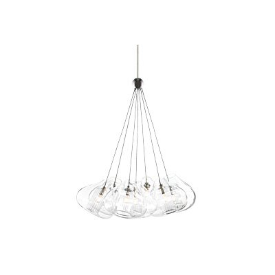 Cheers 7-Light Cluster Pendant Finish: Satin Nickel
