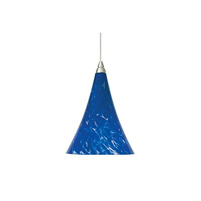 Mini Melrose 1-Light Mini Pendant Finish: Satin Nickel, Color: Blue / Blue-Violet, Bulb Type: 1 x 50W Halogen