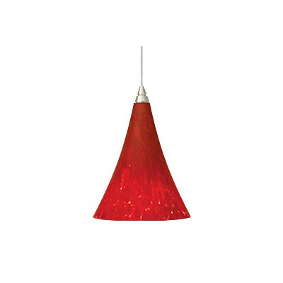 Melrose 1-Light Mini Pendant Finish: Satin Nickel, Color: Red / Ferrari Red, Bulb Type: 1 x 50W Halogen
