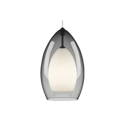 Fire Grande 1-Light Pendant Finish: Satin Nickel, Shade: Smoke, Bulb Type: Incandescent