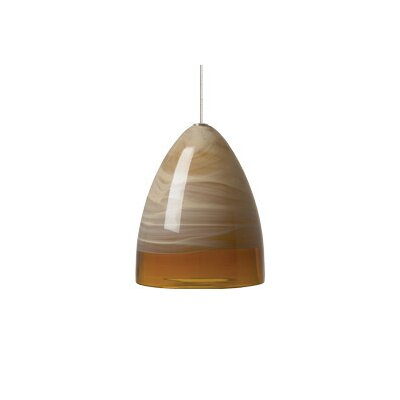 Nebbia 1-Light Monopoint Pendant Finish: Satin Nickel, Shade: Amber, Bulb Type: Halogen