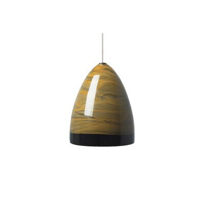 Driggers Monopoint 1-Light Mini Pendant Finish: Antique Bronze, Shade: Brown, Bulb Type: Halogen