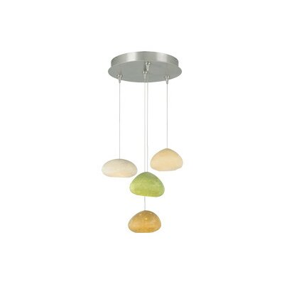 River Rock 4-Light Cluster Pendant Finish: Satin Nickel