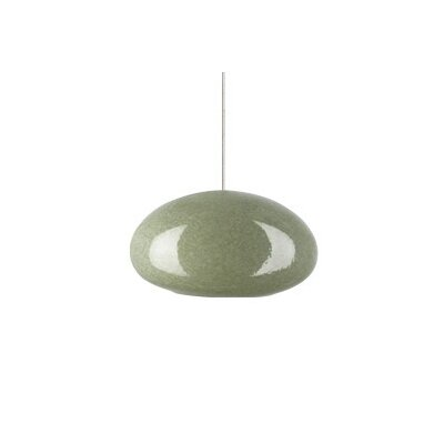 River Rock Monopoint 1-Light Mini Pendant Finish: Satin Nickel