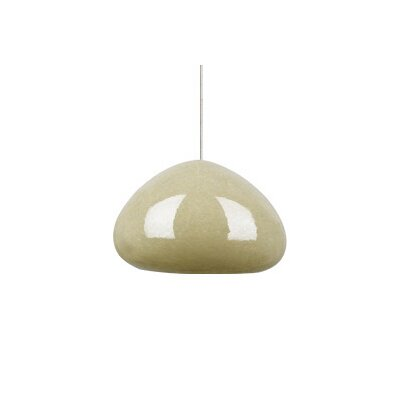 River Rock 1-Light Soft Round Monopoint Pendant Finish: Satin Nickel