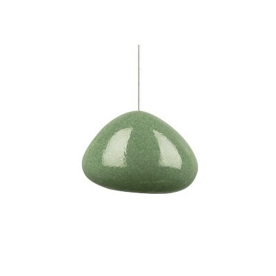 River Rock 1-Light Mini Pendant Finish: Bronze, Shade Color: Green Slate