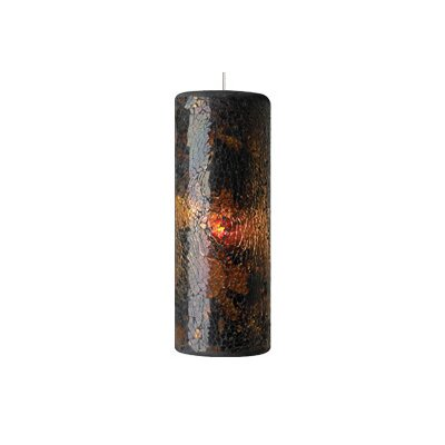 Veil 1-Light Monopoint Pendant Finish: Antique Bronze, Shade: Brown, Bulb Type: Halogen