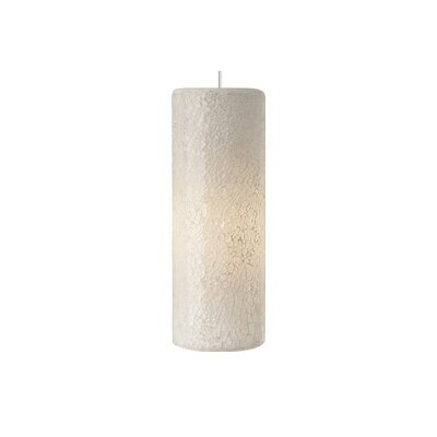 Veil 1-Light Monopoint Pendant Finish: Antique Bronze, Shade: White, Bulb Type: Halogen