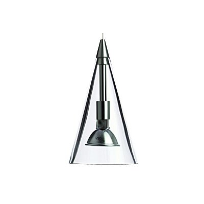 Cone 1-Light Mini Pendant Finish: Chrome, Color: White / Clear