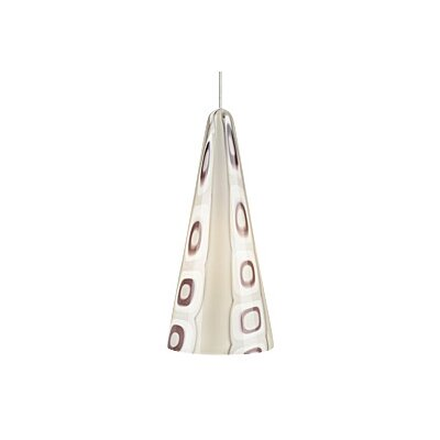 Niko 1-Light Mini Pendant Finish / Bulb Type: Satin Nickel / 1 x 50W Halogen, Shade Color: Purple / Amethyst