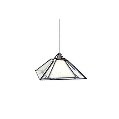 Oak Park 1-Light Mini Pendant Finish: Chrome, Shade Color: White / Clear