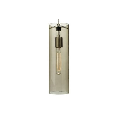 Beacon 1-Light Mini Pendant Finish: Satin Nickel, Shade: Smoke, Bulb Type: Fluorescent